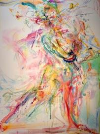 Momentum 36 x 48 oil over acrylic on canvas 2018